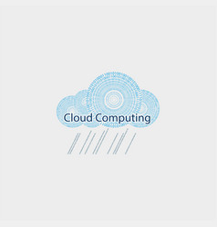 computer cloud drawn from the figures vector image vector image