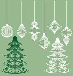 Geometric Christmas ornaments set vector image vector image
