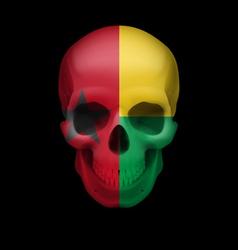 Guinean flag skull vector