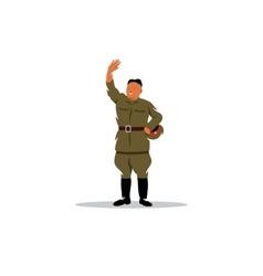 North korean soldier in uniform sign vector
