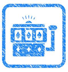 ethereum gambling machine framed grunge icon vector image