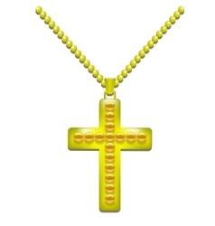 Golden Cross vector image vector image