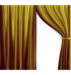 naturalistic image of curtain open curtains red vector image