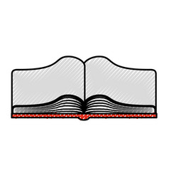 text book open isolated icon vector image vector image