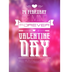 Valentine blurred background vector image vector image