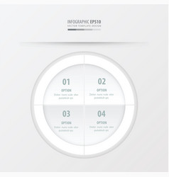 circle presentation template white color vector image vector image