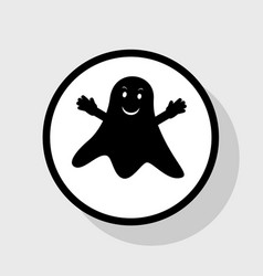 ghost isolated sign flat black icon in vector image