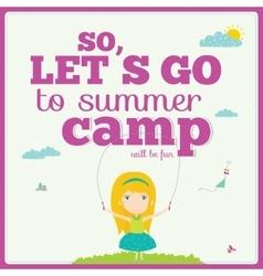 happy kids on summer background vector image