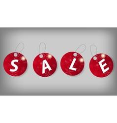 Set of Christmas Sale Tags vector image vector image