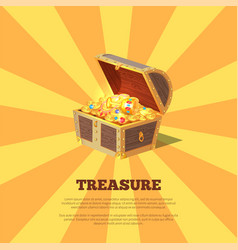 treasure poster with chest vector image