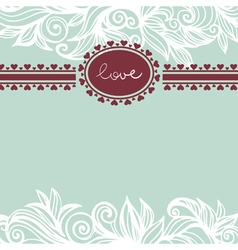 Valentine background with frame vector image