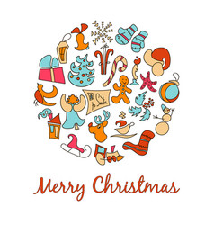 a set of cartoon images for the christmas vector image vector image