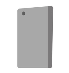 back view of smartphone vector image