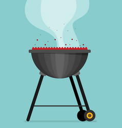 Barbecue flat style design - vector