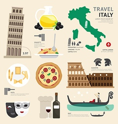Italy Flat Icons Design Travel Concept vector image vector image