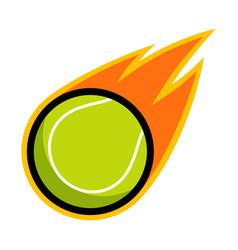sport ball fire tennis vector image