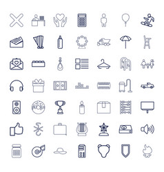 49 icons vector