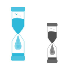 A set of logos hourglass vector