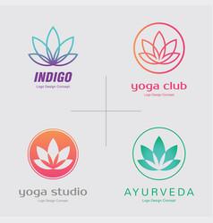 abstract flower logo design creative lotus symbol vector image