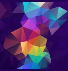 Abstract polygon square background purple rainbow vector