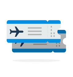 airline tickets flights flat material design vector image