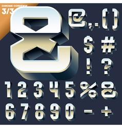 Alphabet of simple 3d letters vector