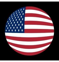 American flag sphere vector image