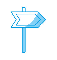 Arrow road sign icon vector