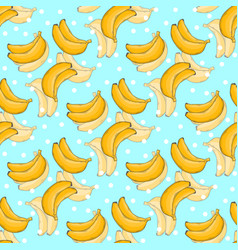 banana pattern with polka dots vector image