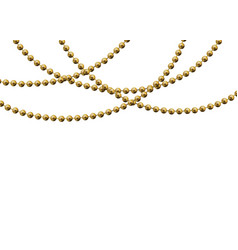 beautiful gold beads vector image