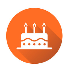 birthday cake flat icon fresh pie muffin on vector image