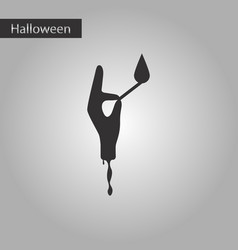 Black and white style icon halloween zombie arm vector