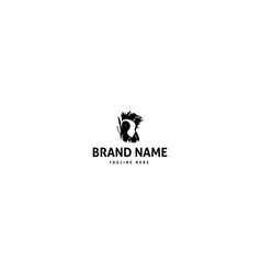 black logo which depicts artificial vector image