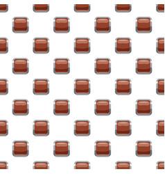 Broun square button pattern vector
