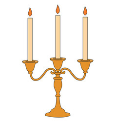 candle stick on white background vector image