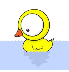 cartoon baby duck vector image