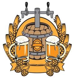 cask beer vector image
