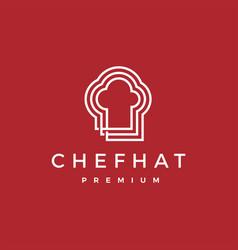 chef hat logo icon vector image