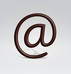 Chocolate email sign vector image