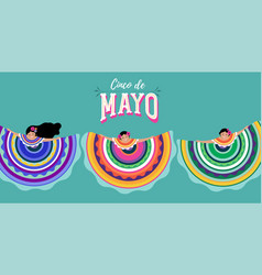 cinco de mayo - may 5 federal holiday in mexico vector image
