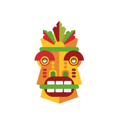 Colorful aborigine facial mask vector