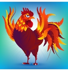 Colorful cartoon rooster symbol of 2017 year by vector