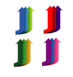 colorful up arrow on white background vector image