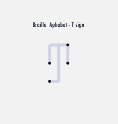 creative english version braille alphabet vector image