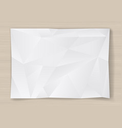 crumpled sheet of paper vector image