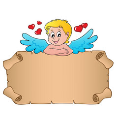 Cupid topic parchment 3 vector