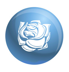 decorative rose icon simple style vector image