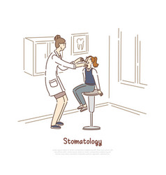 Dentist appointment stomatology clinic visit vector
