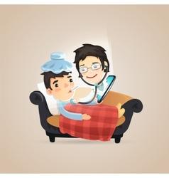 Doctors Online Diagnosis vector image