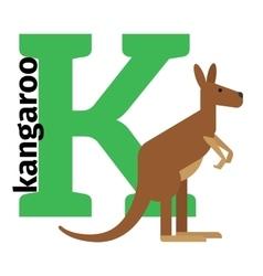 English animals zoo alphabet letter k vector